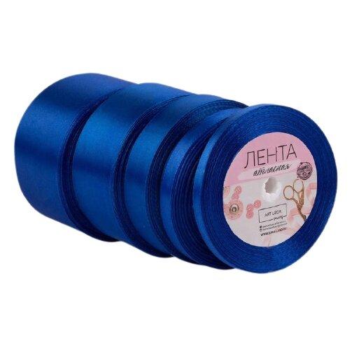 Лента Арт Узор атласная пришивная 6/10/20/40/50 мм, 23 м, набор 5 шт. 40 синий по цене 471