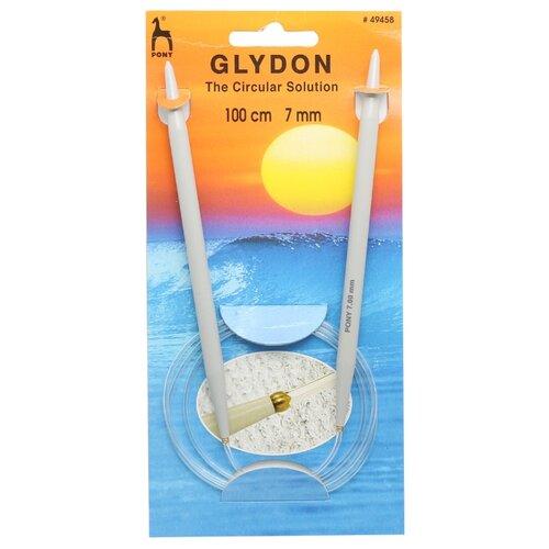 Купить 49458 Спицы вязальные круговые GLYDON 7, 00мм*100см, пластик PONY