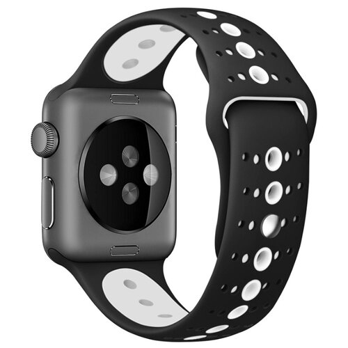 Сменный ремешок Nuobi Sport ver.3 для Apple Watch, Черный/белый 38/40 mm сменный ремешок nuobi для apple watch 38 40mm черный