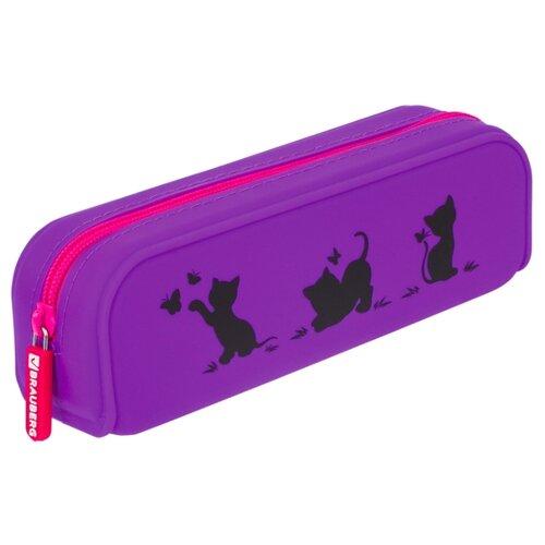 Купить BRAUBERG Пенал-косметичка Kittens (229028) фиолетовый, Пеналы