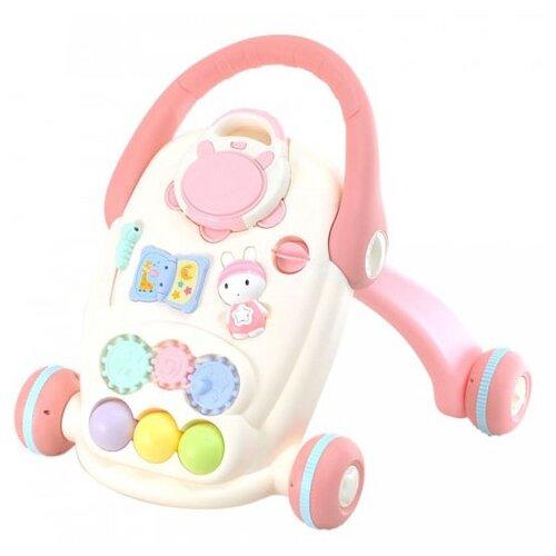 Каталка-ходунки everflo Bunny Pink (HS0392228) розовый/белый everflo каталка everflo машинка smart car m001 pink