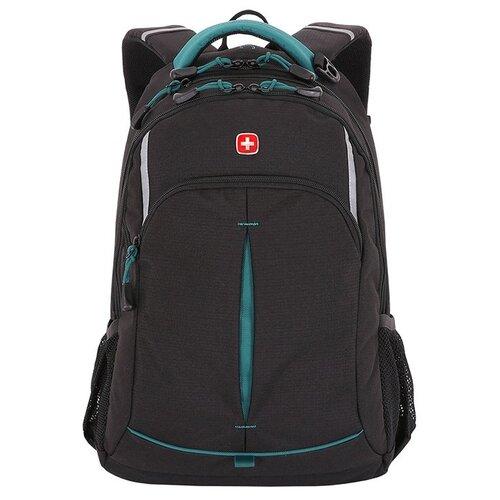 Фото - Рюкзак Swissgear, черный/бирюзовый, 32x15x46 см, 22 л, шт SA3165206408 рюкзак swissgear 32x15x46 см 22 л черный