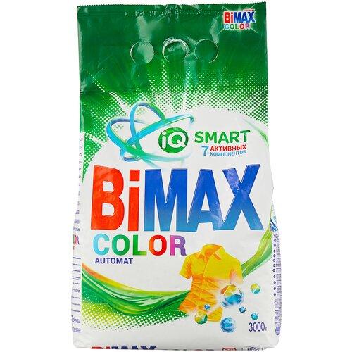 Стиральный порошок Bimax 100 цветов Color Compact (автомат), пластиковый пакет, 3 кг недорого