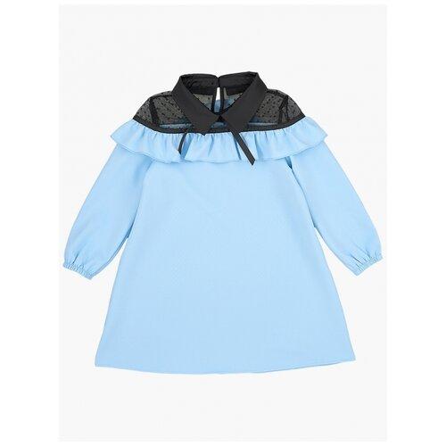 Платье Mini Maxi, 6900, цвет голубой/черный, размер 104