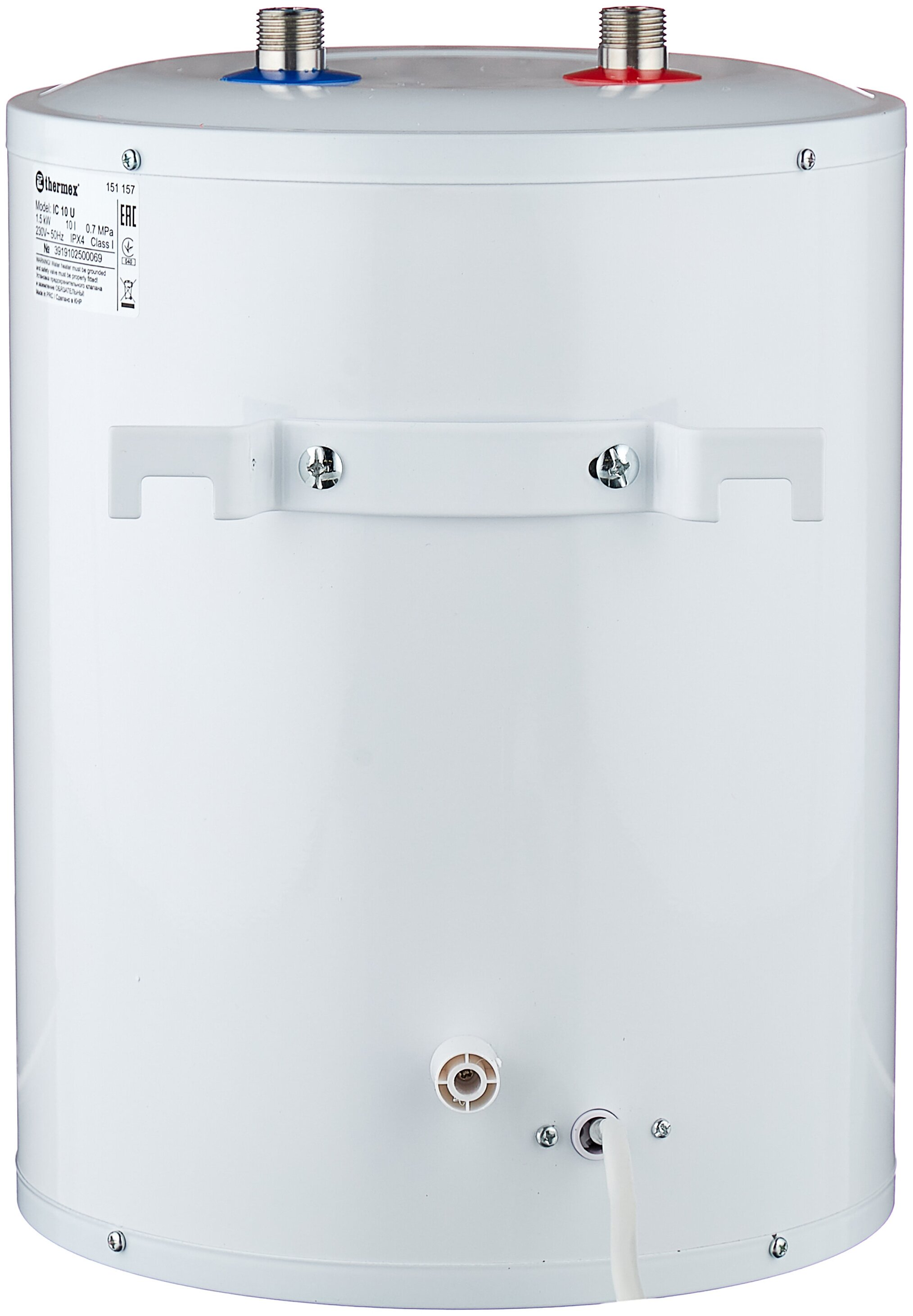 Накопительный электрический водонагреватель Thermex IC 10 U Inox Cask