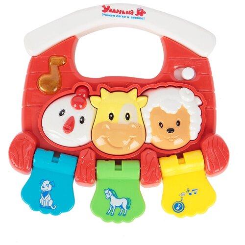 Интерактивная развивающая игрушка Умный Я Пианино. Дружная деревня, красный