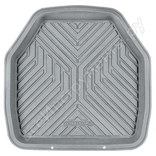 Коврик автомобильный AUTOPROFI MAT-150r GY, универсальный, ванночка для заднего ряда, 1 шт., 48 х 48 см., материал ПВХ серый