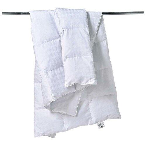 Одеяло кассетное из серого гусиного пуха Бел-Поль эдинбург фарфор 172х205 теплое