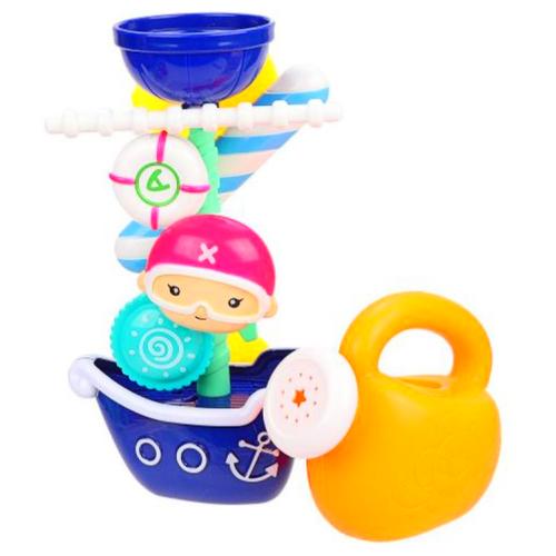 Купить Игрушка для игр в ванной Кораблик YQ8212 Play Smart с лейкой 22х12, 5х8см, Игрушки для ванной