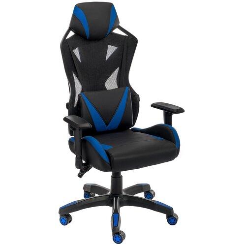 Фото - Компьютерное кресло Woodville Markus офисное, обивка: текстиль/искусственная кожа, цвет: черный/синий компьютерное кресло woodville rich офисное обивка искусственная кожа цвет коричневый