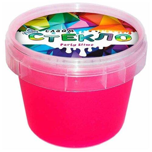 Лизун Слайм Стекло Party Slime неон M розовый