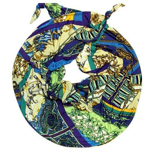 Шарф женский весенний, разноцветный, двойной шарф-долька Оланж Ассорти с узелками серия Сингапур из вискозы