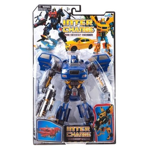 Купить Робот-трансформер Гратвест Inter Change 2-в-1 (10865) синий, Роботы и трансформеры