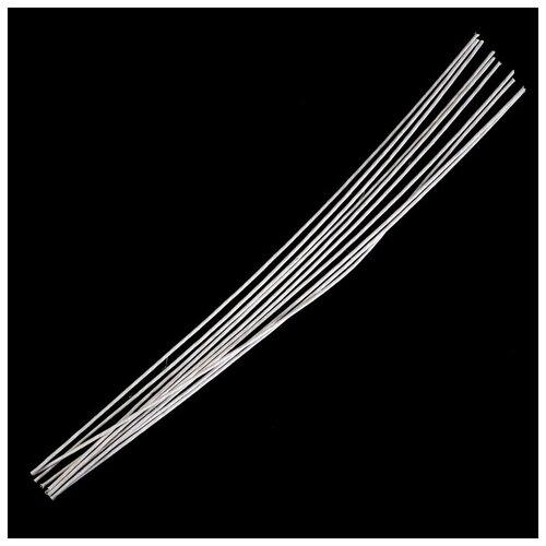 Набор проволоки для флористики d-3,00мм, 60 см, 10шт, белый 4641546