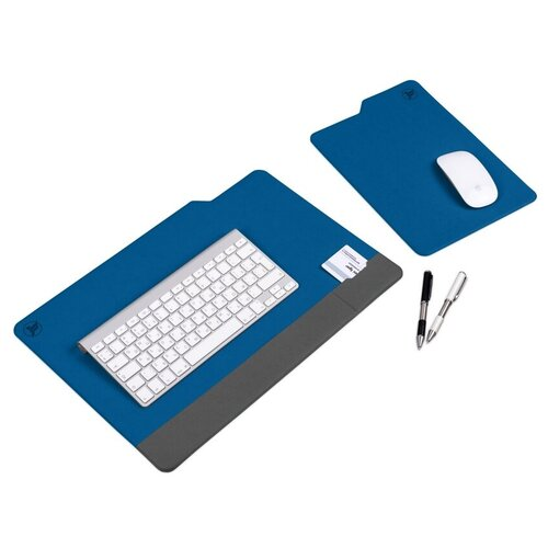 Flexpocket / Настольный коврик / коврик для мыши / плейсмат / коврик на стол 450х305 мм + 220x305 мм синий