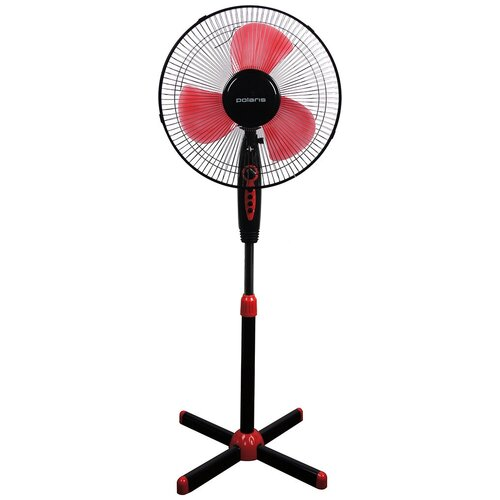 Напольный вентилятор Polaris PSF 40V, черный/красный