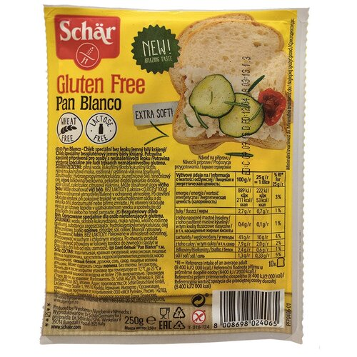 Schar Хлеб Pan Blanco рисовый без глютена в нарезке, 250 г