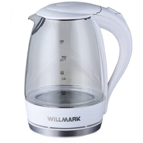 Чайник Willmark WEK-1708G, белый чайник willmark wek 2009p белый фиолетовый