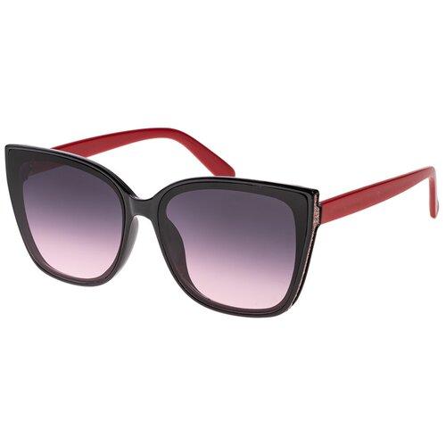 Солнцезащитные очки женские/Очки солнцезащитные женские/Солнечные очки женские/Очки солнечные женские/21kdglan1005358c3vr черный,фиолетовый/Vittorio Richi/Кошачий глаз/модные