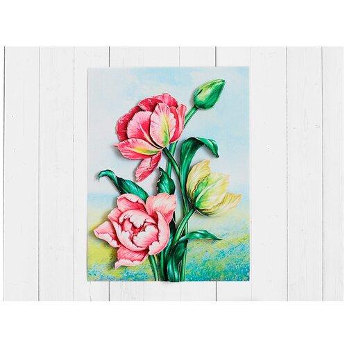 Папертоль «Весенние тюльпаны», Paperlove, 15x20 см