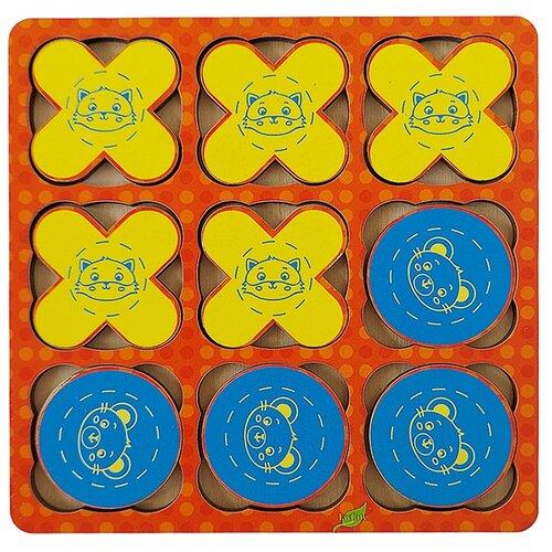 Купить Деревянная развивающая логическая игра «Крестики нолики» деревянная логическая настольная LivCity н00101, Настольные игры