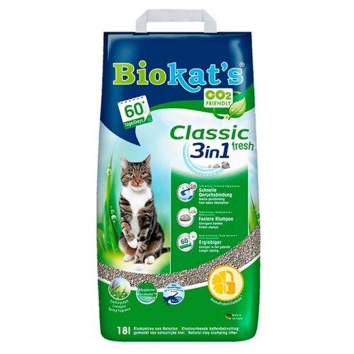 Комкующийся наполнитель Biokat's Classic Fresh 3in1 18л
