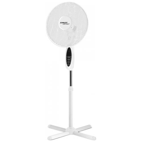Напольный вентилятор Scarlett SC-SF111RC08, белый