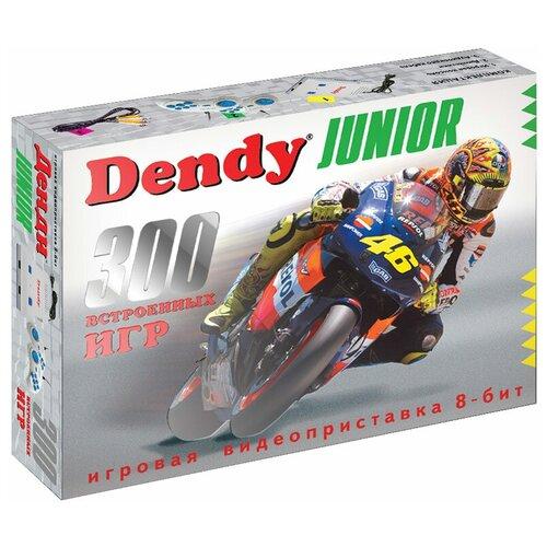 Фото - Игровая приставка Dendy Junior 300 встроенных игр серый/синий игровая приставка dendy junior 300 игр световой пистолет
