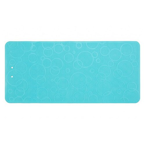 Коврик резиновый антискользящий для ванны ROXY-KIDS 76х35см аквамарин roxy kids коврик roxy kids для ванны антискользящий резиновый 35 76 см желтый