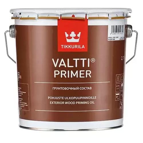 Грунтовка-антисептик по дереву Tikkurila Valtti Primer с маслом, 2.7 л alpina грунтовка по дереву лессирующий антисептик 10л