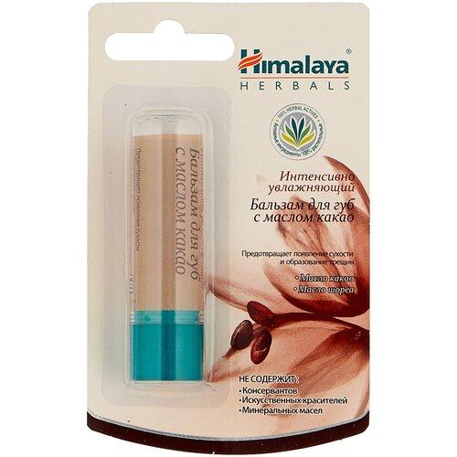 Himalaya Herbals Бальзам-стик для губ с маслом какао интенсивно увлажняющий бальзам для губ himalaya herbals с маслом какао 4 5 мл