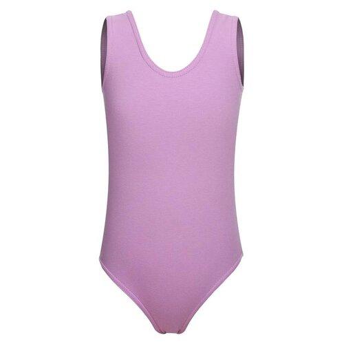 Купить Купальник гимнастический на широких бретелях, р.36 цвет фиалковый 6302591, Grace Dance, Купальники и плавки