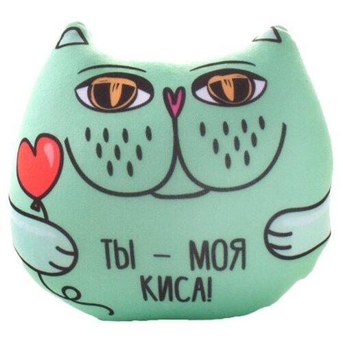 Игрушка-антистресс Мнушки Кот с фразой: Ты моя киса 13 см