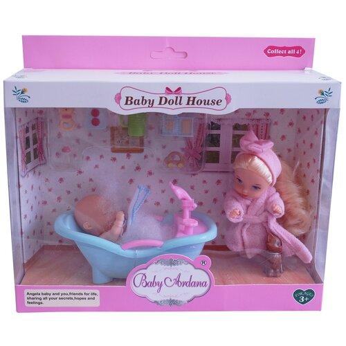 Игровой набор Кукла и Пупсик в ванночке с аксессуарами