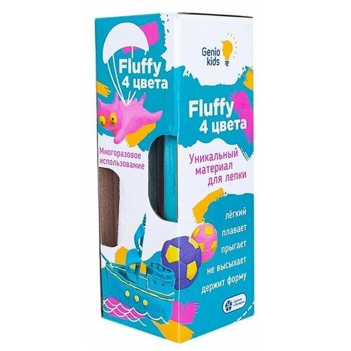 Пластилин Genio Kids Набор для лепки воздушный пластилин Fluffy 4 цвета (TA1501)