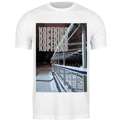Футболка классическая Kopfkino #kino-02 #2323166 (цвет: БЕЛЫЙ, пол: МУЖ, качество: ЭКОНОМ, размер: S)