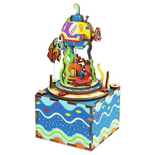 Купить Деревянный 3D конструктор - музыкальная шкатулка Robotime Under The Sea - AM406, Сборные модели