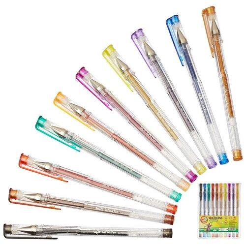 Купить Набор гелевых ручек 10 цв. с блестками PVC GA 103000 0, 7мм, BEIFA, Ручки