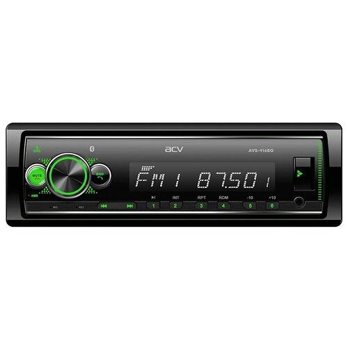 Автомагнитола ACV AVS-916BG, Bluetooth/поддержка приложения ACV RC и ACV Control/зеленая подсветка