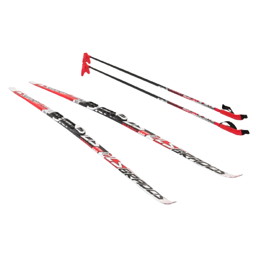Фото - Беговые лыжи STC NNN Rottefella Step Brados LS с креплениями, с палками red 160 см беговые лыжи stc step kid combi черный белый желтый 110 см