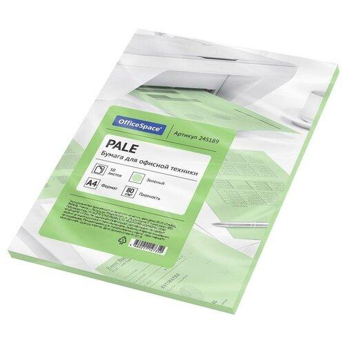 Фото - Бумага OfficeSpace A4 Pale 80г/м2 50лист. (цветная), зеленый бумага officespace a4 pale 80г м2 50лист цветная фиолетовый