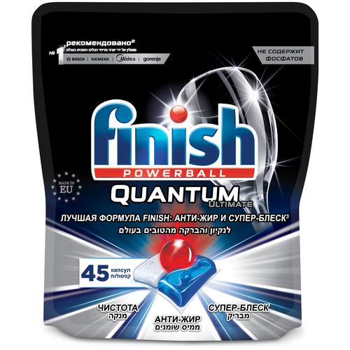 Капсулы для посудомоечной машины Finish Quantum Ultimate капсулы (original) дойпак, 45 шт. недорого