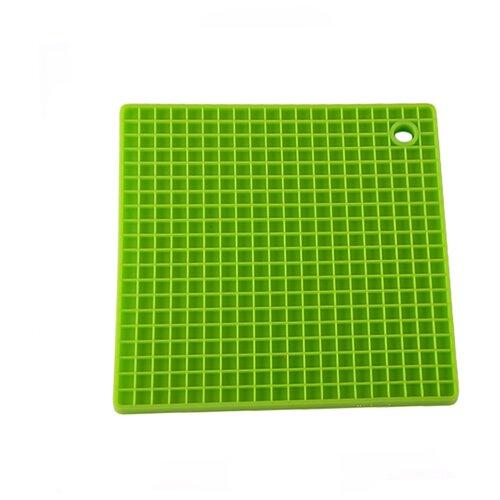 Силиконовая подставка под горячее, квадратная форма, цвет зеленый, Kitchen Angel KA-STND-08 крышка kitchen angel ka lid 05 зеленый