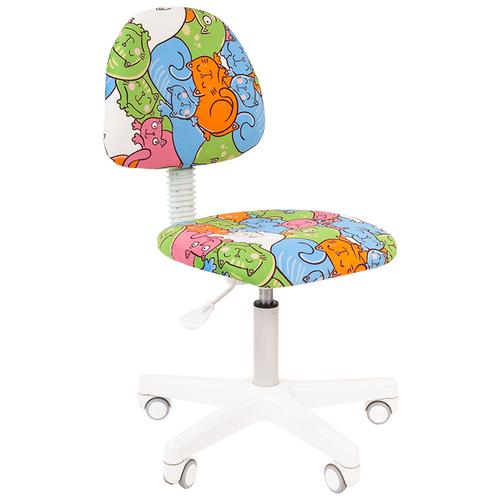 Фото - Компьютерное кресло Chairman Kids 104 детское, обивка: текстиль, цвет: котики компьютерное кресло chairman kids 101 детское обивка текстиль цвет монстры