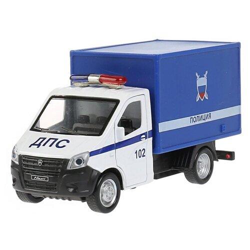 Фургон ТЕХНОПАРК ГАЗель Next. Полиция (NEXTKUNG-15POL-WH), 14 см, белый/синий