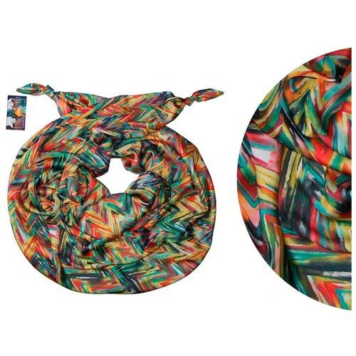Двойной шелковистый шарф-долька Оланж Ассорти серия