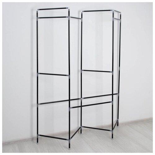 Стойка для вещей, с креплением к стене 117х32х172 см, цвет черный 5066444