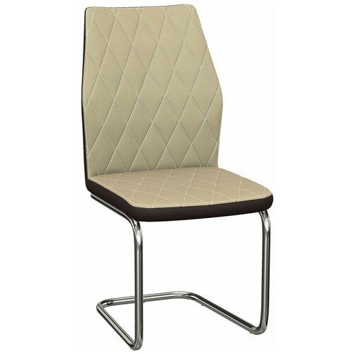 Комплект стульев Аврора Шато 2 нитро крем / нитро браун, 2шт
