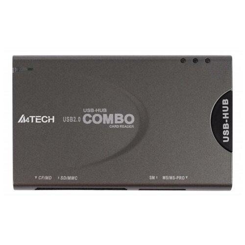 Картридер USB2.0 A4Tech CRH-9 серый (crh-9 )