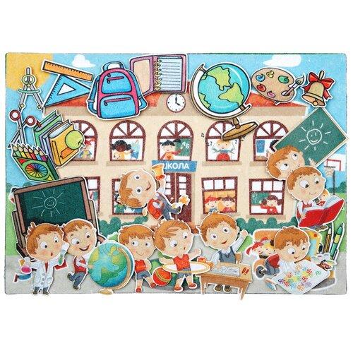 Купить Развивающая игра из фетра на липучках Школа , Веселые липучки, Развивающие коврики